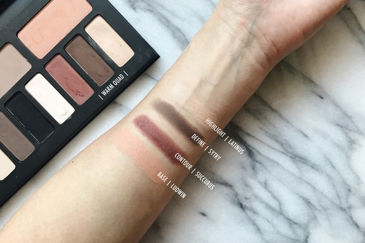 kat von d shade & light eye palette warm quad swatch