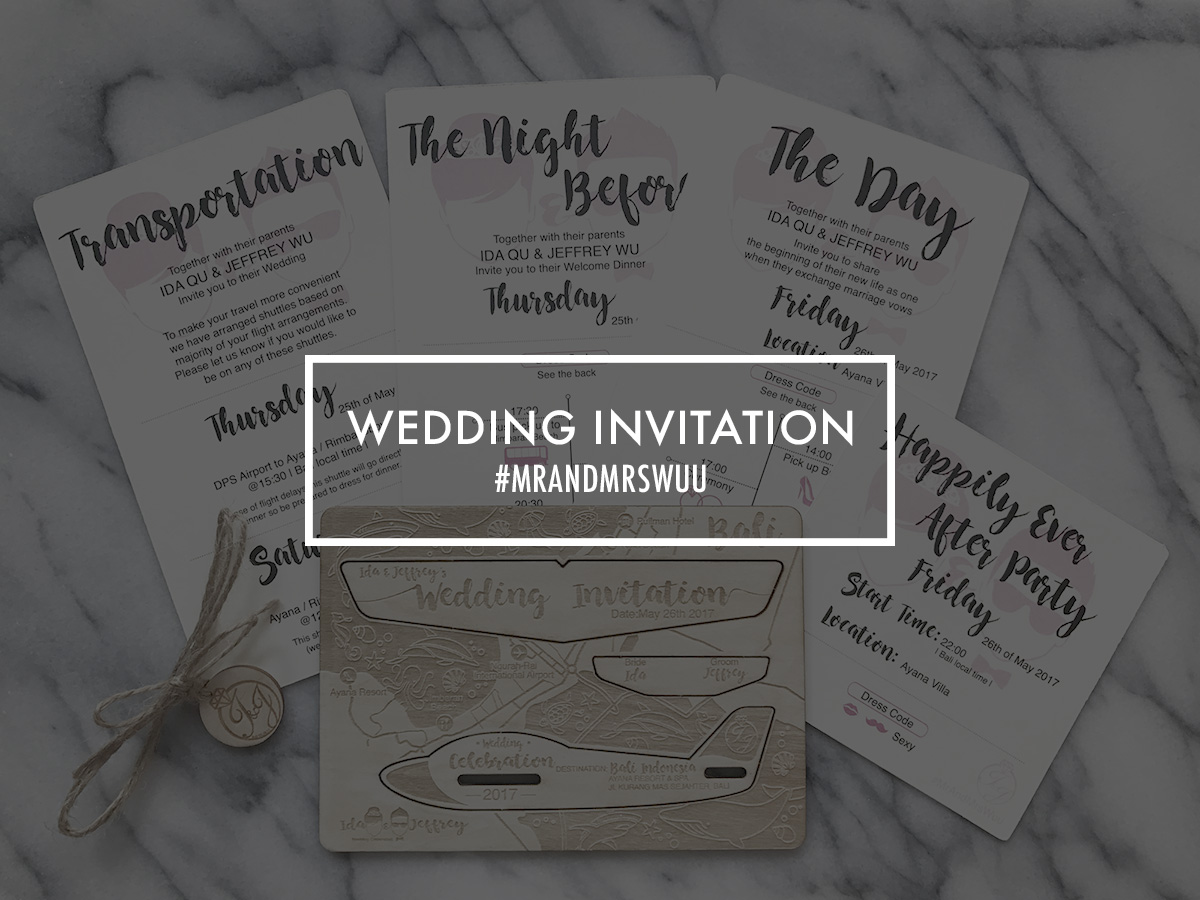 wuu wedding invitation