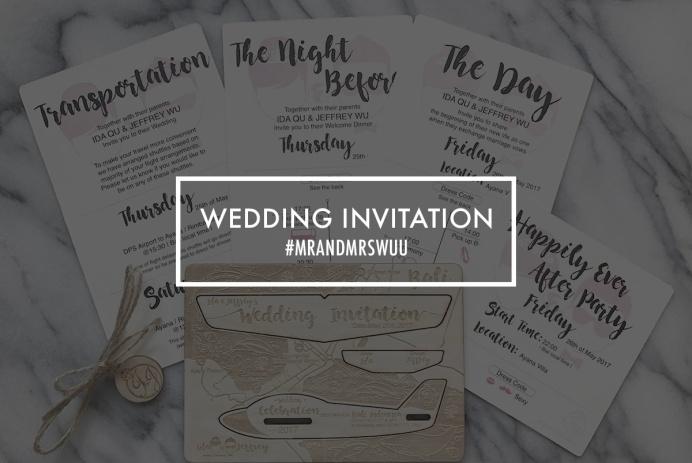 wuu wedding invitation